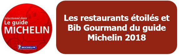 Les restaurants étoilés et Bib Gourmand du Guide Michelin 2018