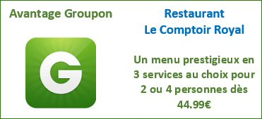 Restaurant Comptoir Royal Bruxelles - Deal Groupon