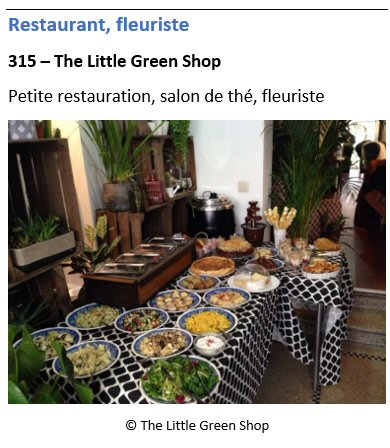 Restaurant The Little Green Shop - 315 chaussée d'Alsemberg - Uccle